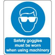 Mandatory Safety Sign - Safety Goggles Must 131